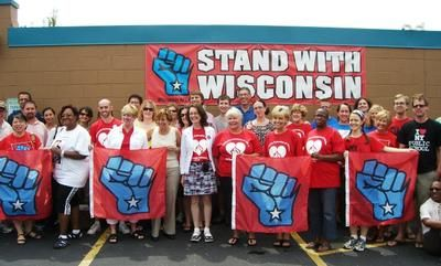 AFT Activists at GOTV Rally in Milwaukee - August 8th