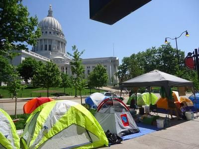 """Walkerville"" at the Capitol in Madison"