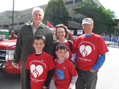 Milwaukee Mayor, Tom Barrett, with Stephanie Bloomingdale & sons Nicholas & Spencer, and Tom Jaeck