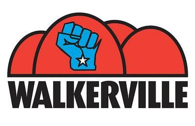 """Wallkerville"" official logo--please share and support a fair budget in Wisconsin."