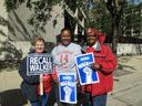WFNHP Activists (L-R) Kathy Filipiak & Katherine Ford with Senator Lena Taylor (center)