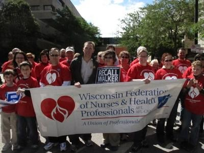 WFNHP parade marchers with Senator Chris Larson (center)